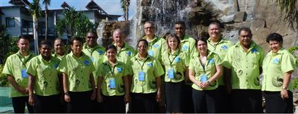 Management Board members at the First Board meeting in Nadi, Fiji in 2013.