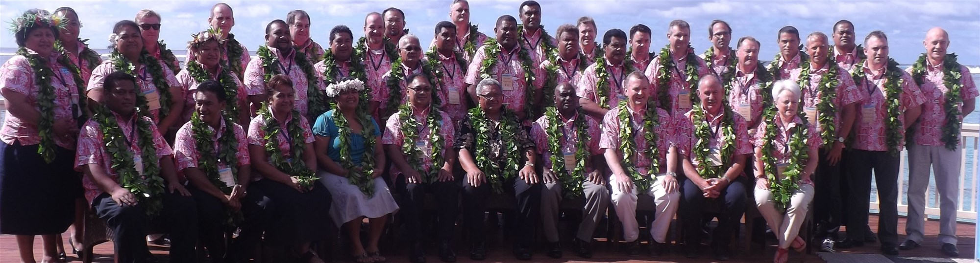 Delegates at the 2012 Annual Pacific Immigration Directors' Conference that was held in Rarotonga, Cook Islands.